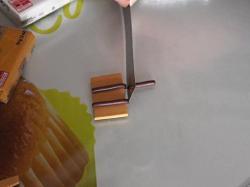 Bandes de Fimo chocolat installées