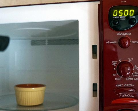 Cuire la Fimo au micro onde pendant 5 minutes