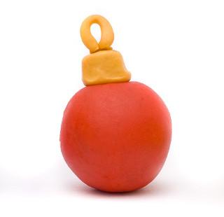 Boule rouge pour décoration de noël