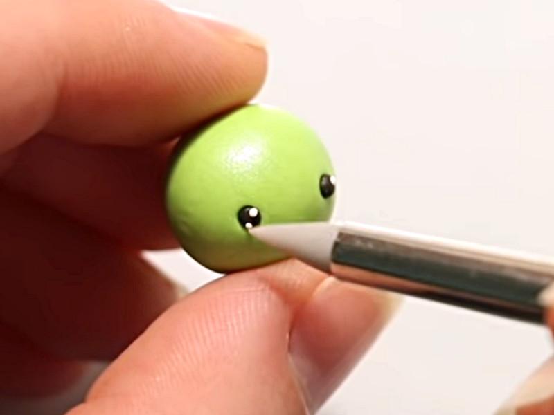Pupilles créés avec de la fimo blanche