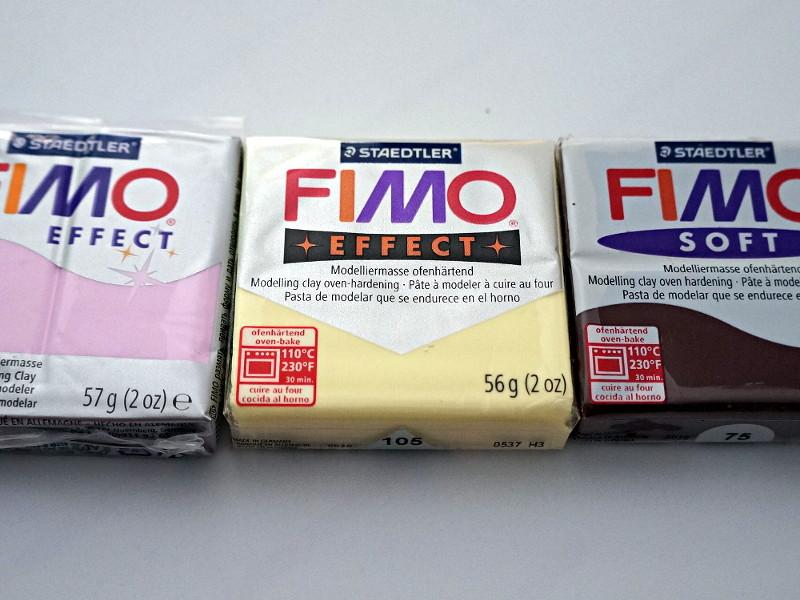 Les 3 couleurs Fimo à utiliser